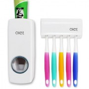 Hands Free Toothpaste GHpenser Automatic Toothpaste Squeezer and Toothbrush Holder Kit 5 Pcs CodeGH-GH537