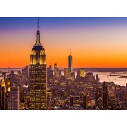 Wooden Jigsaw Puzzle The Empire State Building New York City Skyline Skyscrapers 500-Pieces