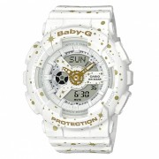 reloj digital analogico casio baby-g BA-110ST-7A - blanco