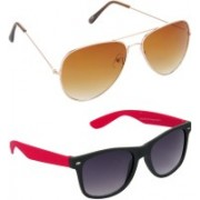Hrinkar Aviator Sunglasses(Brown)