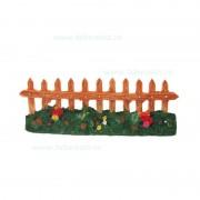 Ornament acvariu gard ceramic de gradina 20 cm