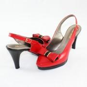 Pantofi piele naturala dama - rosu, Nike Invest - toc mediu - S469-RosuL