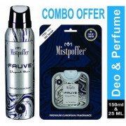 Mistpoffer Fauve Perfumed Deodorant Body Spray + Mistpoffer Fauve Pocket Perfume Combo Offer Pack of 2 For Men