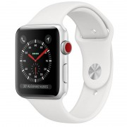 Apple Watch Series 3 GPS + 42mm Alumínio Prata Com Correia Desportiva Branca