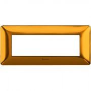 Rama ornament 6M auriu satinat Matix Bticino AM4806GOS