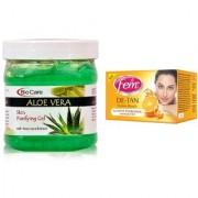 Fem De-Tan Crme Bleach 30g and Biocare Aloe Vera Gel 500ml