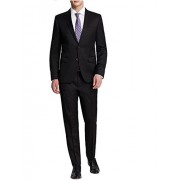 Hugo Boss Aeron 2 Hamen 2 Navy Solid 2 Button Flat Front New Men's Suit Set