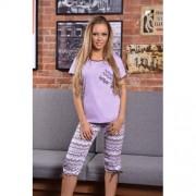 Amanda pyjama met broek paars