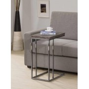 Coaster 902864 Weathered grey top and black finish legs snack chair side end table
