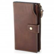 Collin Rowe Portefeuille RFID en cuir marron vintage