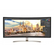 "Monitor IPS, LG 37.5"", 38UC99-W, LED, Curved, 5ms, HDMI/DP, Speakers, 21:9, 3840 x 1600 (38UC99-W.AEU)"