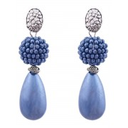 Fashionize Oorbellen Luxury Pearldrop Blauw