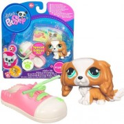 Littlest Pet Shop Series 1 Figure King Charles Spaniel with Shoe Special Edition
