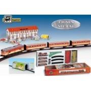 Trenulet electric calatori cu statie si tunel