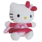 Jemini hello kitty knuffel cheerleader pluche meisjes roze 14 cm