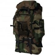 vidaXL Mochila estilo camuflagem do exército XXL 100 L