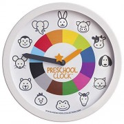 Preschool Collection Clock: Time Teaching Silent Metal Frame Wall Clock 12'' for Kids The Only Educational Atoddler/Preschooler Understands, Perfect Bedroom & Classroom