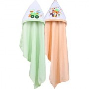 Dress Well Cotton Terry 200 GSM Bath Towel Set (Pack of 2 Peach Green)