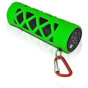 PYLE PWPBT30GN Bluetooth Water Resistant Flashlight Speaker with Call Answering Mic FM Radio Micro SD Reader & AUX-Inp