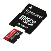 Micro SD TRANSCEND 128GB class10 c/adapt SD UHS-I SDXC10 (45MB/s-400X)
