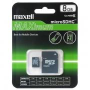 Micro SD Card, 8GB, MAXELL, 1xAdapter, Class10