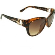 Mangal Brothers Oval Sunglasses(Brown)