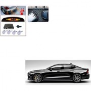 Auto Addict Car Silver Reverse Parking Sensor With LED Display For Volvo S60