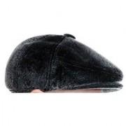 Tahiro Black Cotton Fur Golf Cap - Pack Of 1