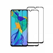 Set 2 folii protectie sticla securizata fullsize pentru Huawei P Smart Plus 2019, negru