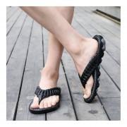 EY Los Hombres Antideslizamiento Verano Flip Flops Zapatillas Cómodos Zapatos De Masaje-Negro