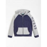 Guess Sweatshirt Capuchon Logo Color Block - Blauw - Size: 16
