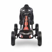 Kart cu pedale si roti din cauciuc EVA Olympus Black
