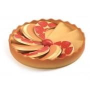 DJECO Drewniane ciasto truskawkowe - do odgrywania ról i zabawy w cukiernię, kucharza etc. DJ06525