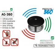 Pestmaster AG 360-aparat cu ultrasunete impotriva rozatoarelor si gandacilor .Acoperire 370 mp