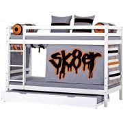 Hoppekids Kerrossänky med utdragssäng 90 x 200 cm - Hoppekids Skater Säng 102701