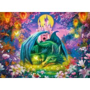 Puzzle Ravensburger - Enchanted Forest of the Dragon, 300 piese XXL (13258)