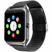 Ceas Smartwatch cu Telefon iUni GT08s Plus Curea Metalica Touchscreen BT Camera Notificari Aluminiu Bonus Bratara Roca Vulcanica unisex
