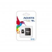 Memoria MicroSD SDHC Adata 16 GB C/Adaptador Clase 4 (AUSDH16GCL4-RA1)-Negro