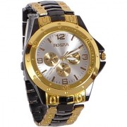 NEW Rosra Watches - ROSRA GOLD BLACK WATCH FOR MEN WITH 6 MONTH WARRANTY