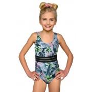 Adrianka klasszikus egyrészes lánykafürdőruha, virágos 140