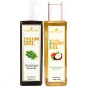 Park Daniel Premium Neem oil and Coconut oil combo of 2 bottles of 100 ml (200ml)