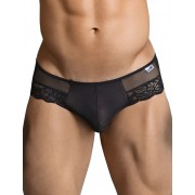 Candyman Lace Cut Out Thong Underwear Black 99299