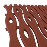 Hnědá plastová bazénová rohož - délka 12 m, šířka 60 cm a výška 0,8 cm