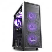 Кутия за компютър DeepCool E-SHIELD, Middle Tower, Black, DP-ATX-E-SHIELD