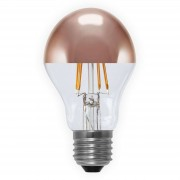 E27 4 W 926 LED half mirror bulb, copper