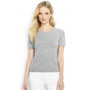 ランズエンド LANDS' END レディース・ランズエンド・カシミヤ・クルーネック・セーター/半袖(クラシックグレーヘザー)