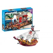 Playmobil Pirate Playset Bundle with Red Serpent Ship and Pirate Fort