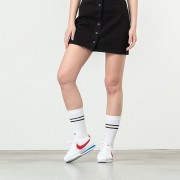 Lazy OAF Button Through Skirt Black