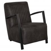 HomingXL Industriële fauteuil Venus leer Colorado antraciet 01 66 cm breed