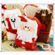 3 Pairs Christmas Knitted Stockings Xmas Party Decoration